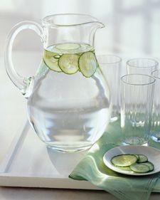 Cucumber Water #beverage #cucumber #water