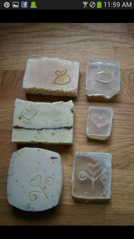 MYO soap stamps. Poly resin.