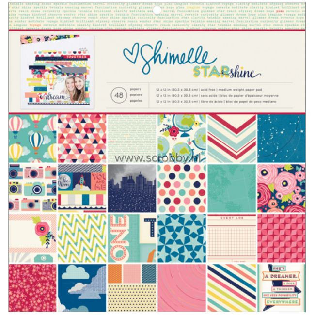 Shimelle Starshine Paper Pad 12x12
