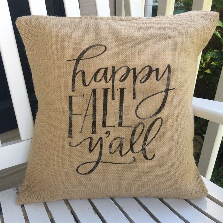 Fall is just around the corner, and that means new decor!  Change out your summer time pillows with some cute fall pillow covers.  Our pillow covers are American made and fits a 16 x 16 pillow.  Each pillow cover printed on a soft brown burlap pillow cover.  Choose from five different designs, or snag one of each to have a complete Fall set.