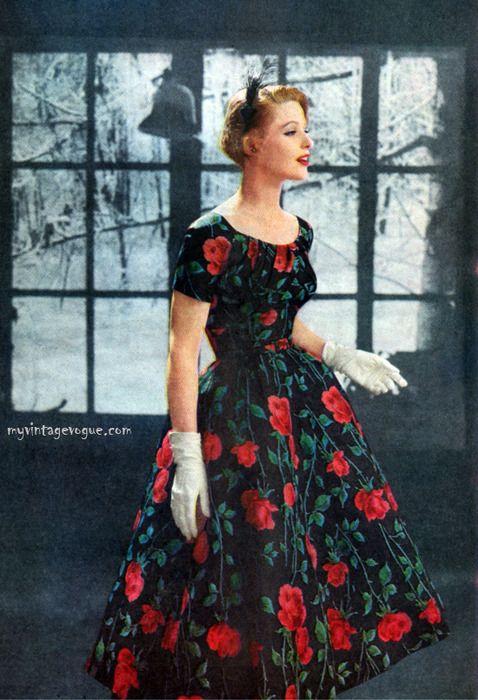 1957  Pretty sure my mom had this dress!!!