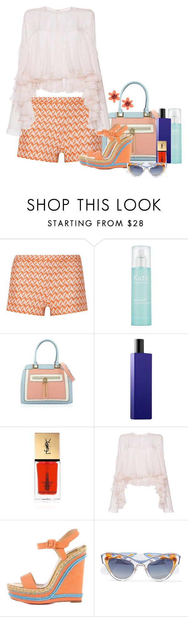 """""""Untitled #6548"""" by lisa-holt ❤ liked on Polyvore featuring Missoni, Kate Somerville, Histoires De Parfums, Yves Saint Laurent, Philosophy di Lorenzo Serafini, Christian Louboutin, Miu Miu and Kate Spade"""