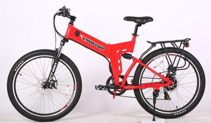 X-Treme X-Cursion Elite 24V Hardtail Full-Size Folding Electric Mountain Bike
