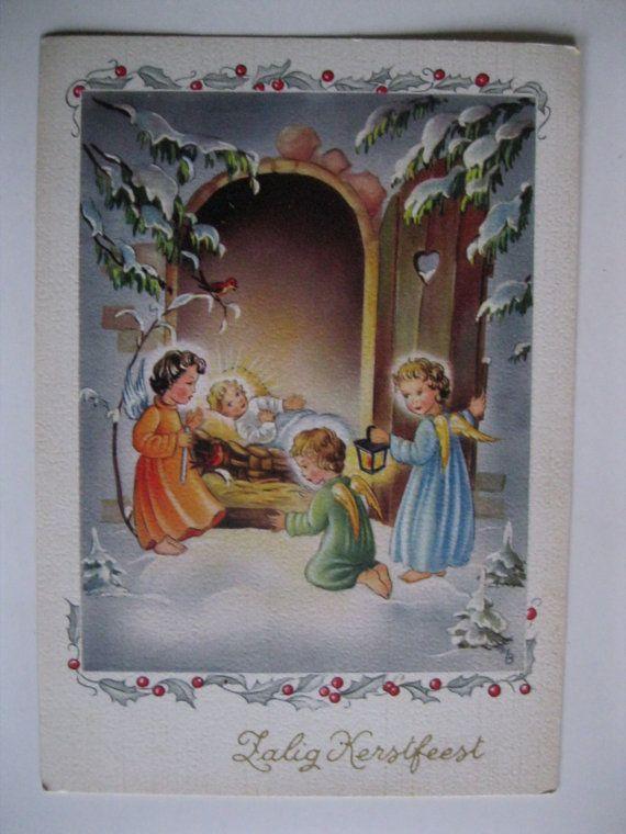 SALE Vintage Christmas Postcard. 1950 Era by grandma62 on Etsy