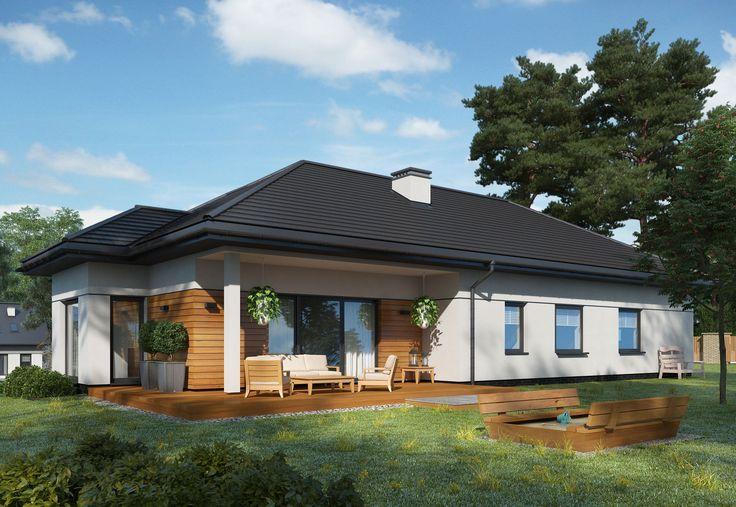 LAGUNA 2 tym różni się od bazowego projektu o nazwie LAGUNA, że nie ma podpiwniczenia oraz garażu. Jest to przykład domu parterowego z dachem kopertowym i atrakcyjnym tarasem. http://www.pro-arte.pl/projekty-domow/986/laguna-2 #LAGUNA #projektdomu