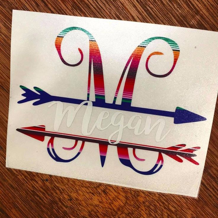 This split monogram is one of our hottest sellers! In the comments section please give us the following information: Initial and name The 3 inch fits a 20 ounce cup and the 3.5 inch fits the 30 ounce
