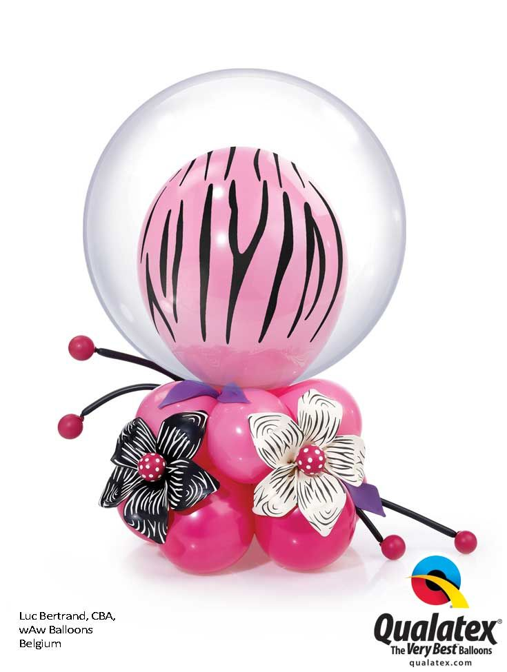 How cool is this #pink #zebra print centerpiece? An elegant addition to your…
