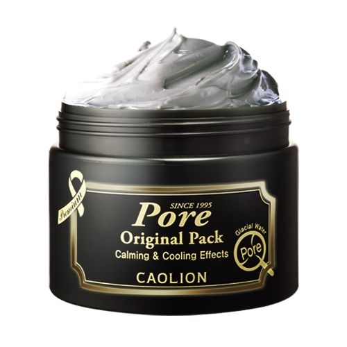 Original Pore Pack Premium  : Tighten sagging, enlarged pores and enhance complexion  #caolion #caolionusa #nature #natural #cosmetics #beauty #skin #skincare #pore #complexion #glacier #water #pack #mask #masque #calm #cool #volcanicash #spearflower #korea #seoul #usa