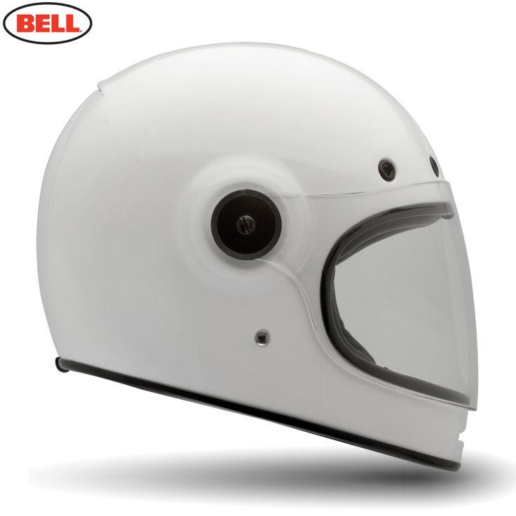 Bell Bullitt Tt Motorcycle Helmet - Bullitt Solid White - 2014 Bell Road Helmets - 2014 Bell Moto & Road Helmets - 2014