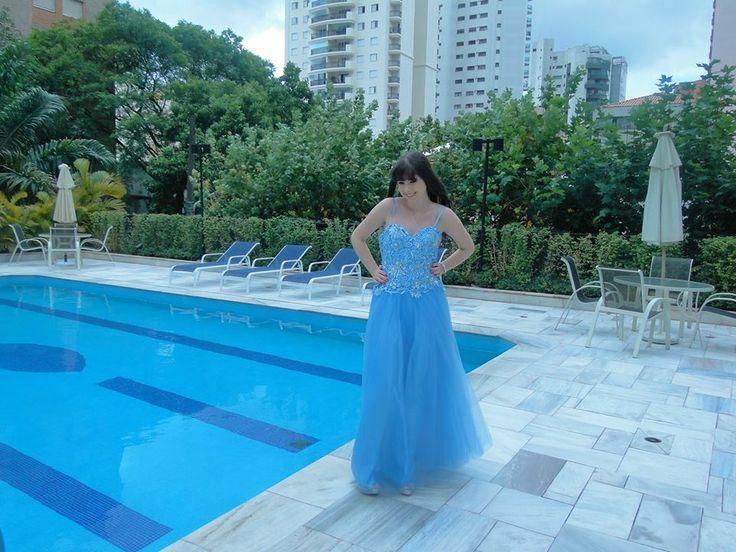 Vestido de festa debutante tamanho 44. Acesse www.blacksuitdress.com.br