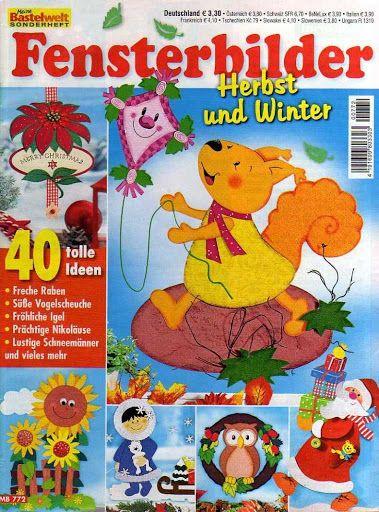 Bastelwelt - Fensterbilder Herbst und Winter - Subtomentosus Xerocomus - Álbuns…