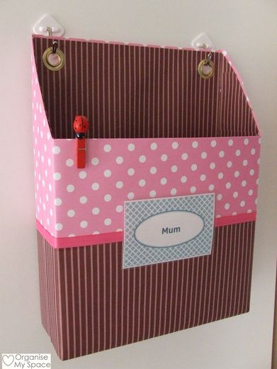 Back to School Daily Organising Tip - Control the paperflow with Mum's In Box & an out Box for the kids