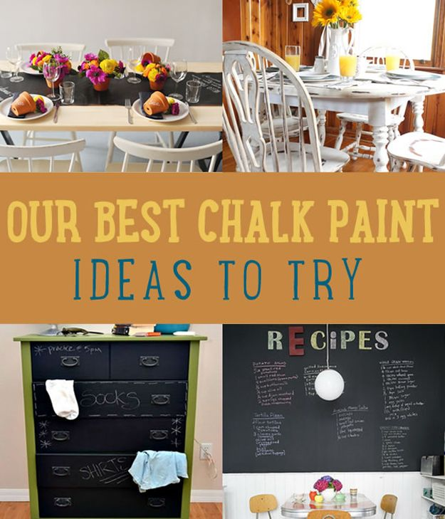 Best Chalk Paint Ideas You Should Try   Home Decor Projects by DIY Ready at http://diyready.com/our-best-chalk-paint-ideas-you-should-try/