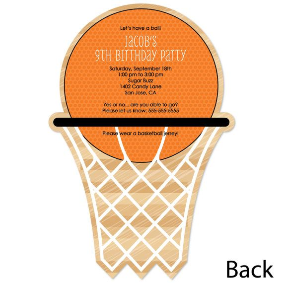 Gather your friends and family for an out of this world birthday party with Basketball party invitations.These Basketball themed invites are a Big Dot original and a fun way to let everyone know about your celebration. Each Basketball invitation can be personalized with your own