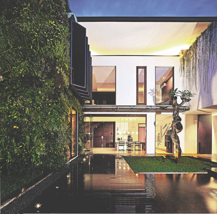 Sister House Image 2. Project : 2628 Sister House Location : Bandung, Indonesia Site Area : 597 m2 Building Area : 600 m2 Design Phase : 2011 Constrution Phase : 2011 - 2013 Description : 2 houses being designed as one building with 2 families live there.  #architect #bandung #jakarta #architectindonesia #archdaily