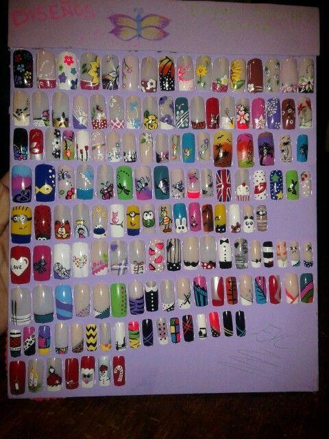 varios tipos de diseños de uñas