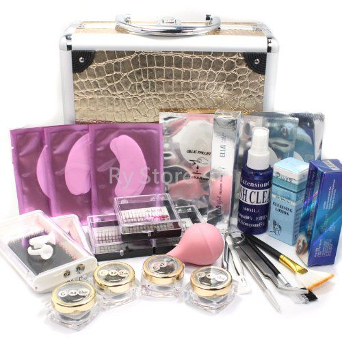 Professional 25 IN 1 Eyelash Extension Korean Mink False Eye Lash Graft Individual Lashes Pad Ring Glue Removal Remover Mascara Full Kit Super Set with Fashion Gold Hard Case Suitcase A158 - http://www.scribd.com/doc/260255528/