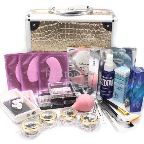 Professional 25 IN 1 Eyelash Extension Korean Mink False Eye Lash Graft Individual Lashes Pad Ring Glue Removal Remover Mascara Full Kit Super Set with Fashion Gold Hard Case Suitcase A158 - http://www.scribd.com/doc/260255528/
