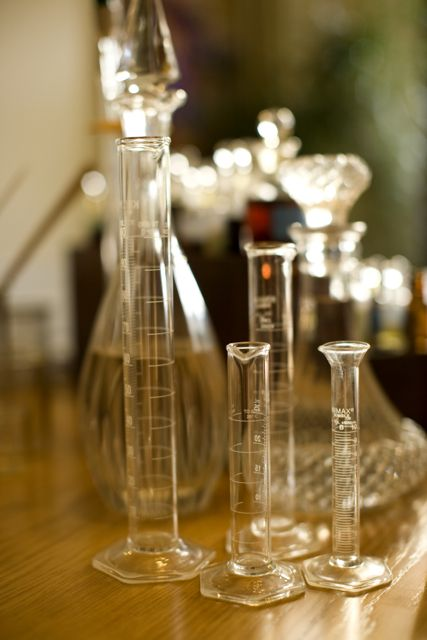 Some of the tools I use to make perfume, drop by drop... measure by measure