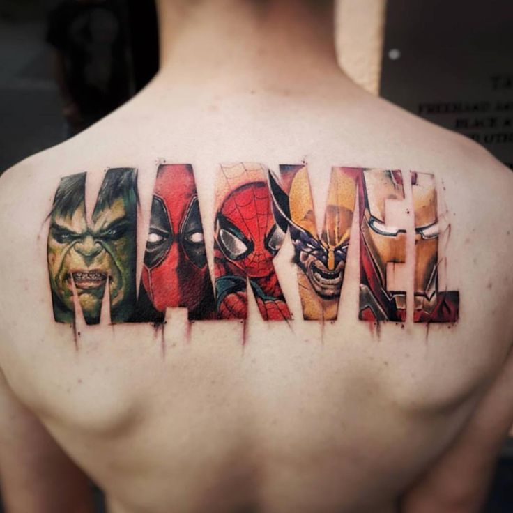 "Inked Magazine (@inkedmag) sur Instagram : ""The ultimate marvel fan tattoo by @maioink"""