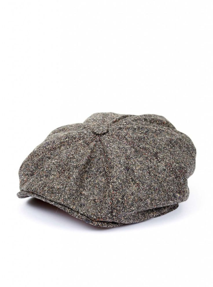 Gibson London Men's Taupe Donegal Hat, a classic British cap with a short peak and made from a wool blend. This really does complete the Peaky Blinders look.