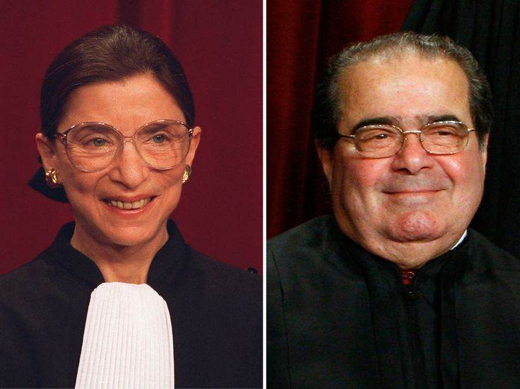 NPR AUDIO Scalia V. Ginsburg: Supreme Court Sparring, Put To Music: Justices Ruth Bader Ginsburg and Antonin Scalia have been friends for decades, but they're known for their differences in constitutional interpretation.
