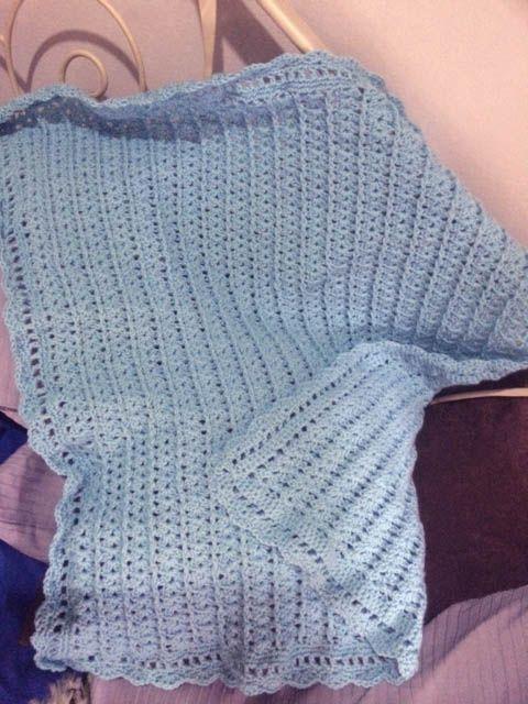 membuat selimut bayi dengan rajutan crochet