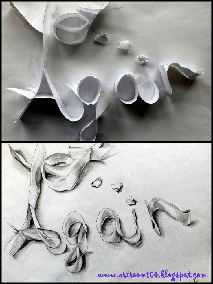 Art Room 104: Studio Art: Value Practice Creative way to combine sculpture and drawing... i like