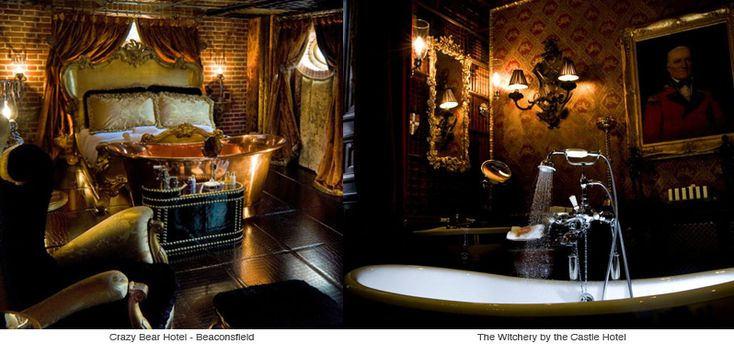 Gothic mansion interiors crazy bear beaconfield uk for Gothic bathroom ideas