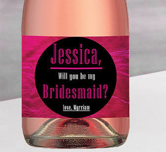 Check out this item in my Etsy shop https://www.etsy.com/listing/276361960/will-you-be-my-bridesmaid-mini-champagne