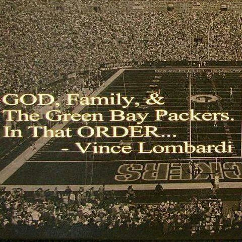 God, Family & The Green Bay Packers.