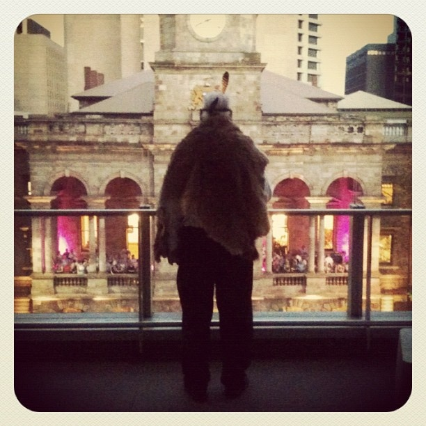 """@paulsboutique's photo: """"My 4th floor view of #adlfringe opening parade, minder to Kaurna Elder Uncle lewis. He was the sweetest 81 year old great grandpa, bless him and his mob."""""""