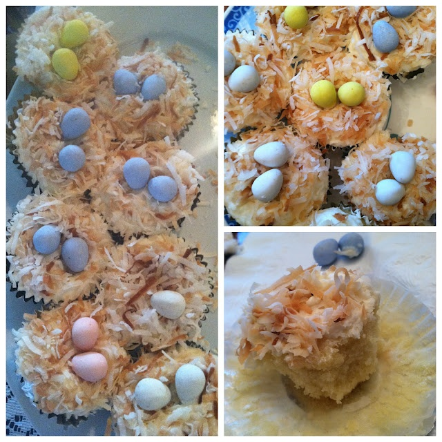 coconut nest cupcakes | something simple | Pinterest