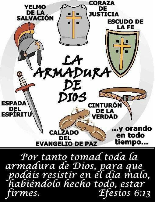 Vístete de la armadura de Dios para que puedas pelear esta batalla espiritual…                                                                                                                                                                                 Más