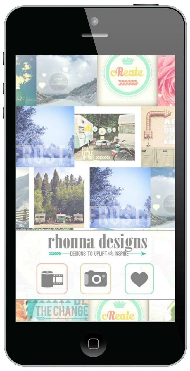 Rhonna Designs App - the BEST app for iPhone photo editing! | #rhonnadesigns_app #photoapp #instagram #iphone