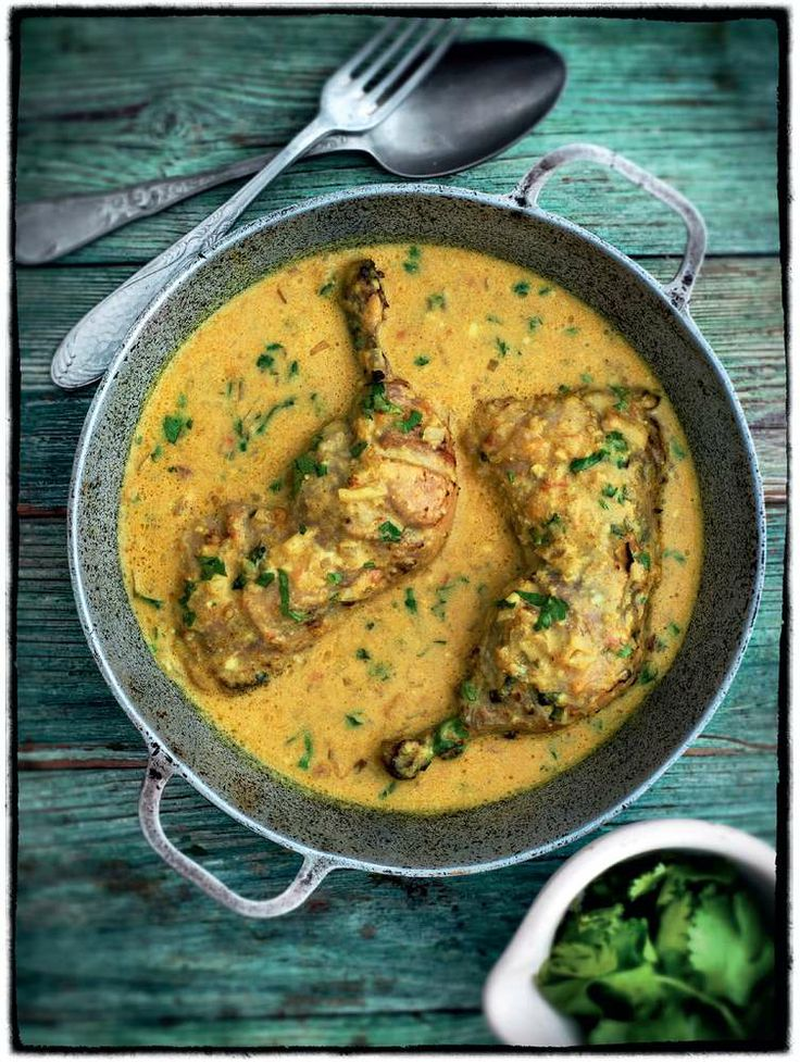 Madhur Jaffrey's Chicken in a Coconut Sauce, aka Kukupaka. 'Kuku' means chickren and 'paka' is coconut!