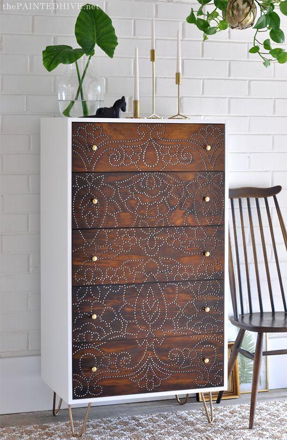 Diy Boho Dresser Upcycle In 2019 Furniture Makeover
