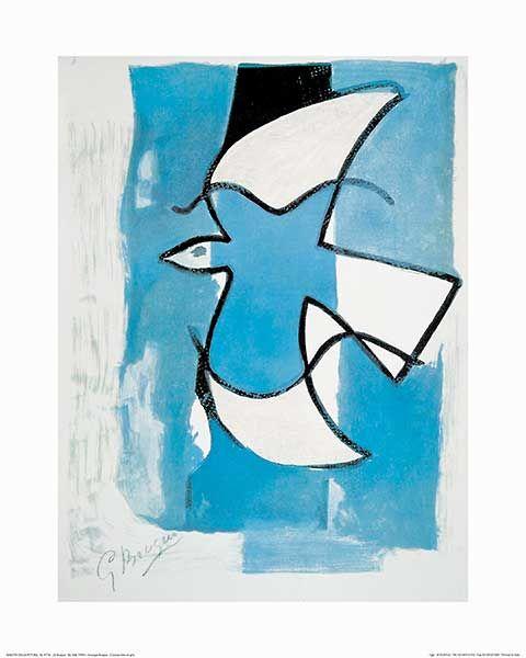 Le Oiseaux Bleu et Gris(ジョルジュ ブラック)