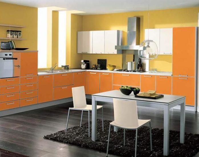 Апельсиновая кухня, дизайн кухни цвета мандарин, 50 фото готовых проектов