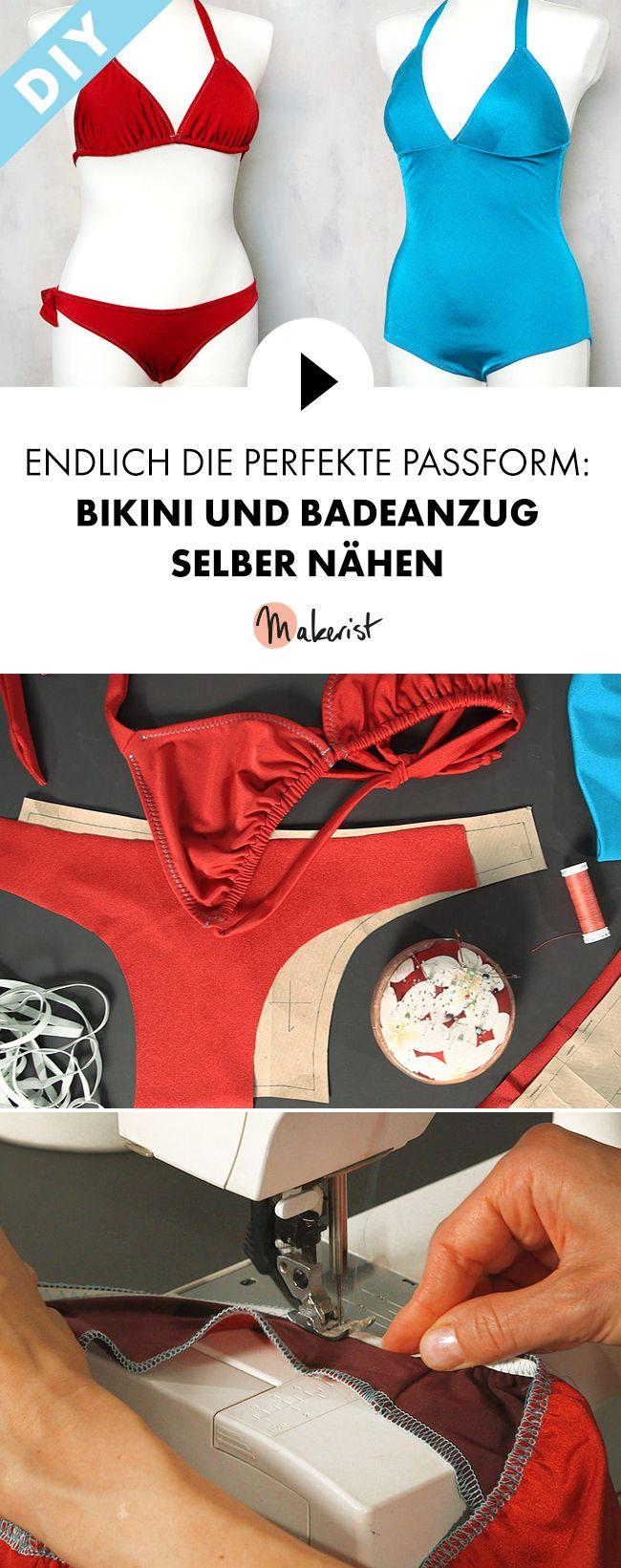 Bademode DIY: Bikini und Badeanzug selber nähen - Schritt für Schritt erklärt im Video-Kurs via Makerist.de
