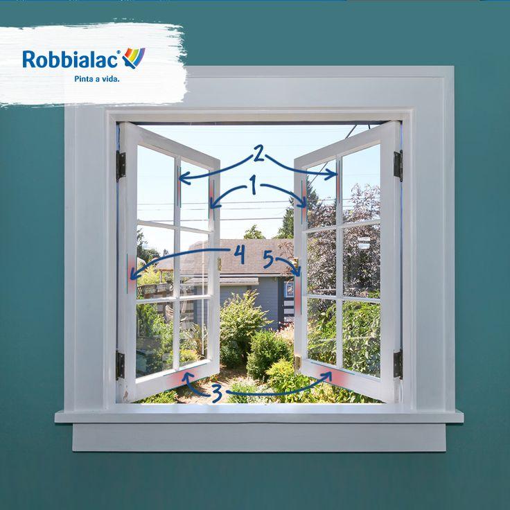 Dica: a melhor forma de pintar janelas é isolar o vidro e seguir os seguintes passos. #Robbialac #Cor #Pintaavida #Dica #Janela #Pintar #Isolar
