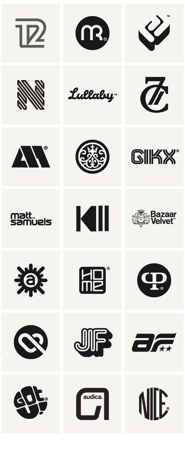 Monogramas, logos e isotipos que funcionan bastante bien, en especial la 1era y 2da fila, contienen aspectos de transito.  Logos & Marques 2010 by Socio Design , via Behance