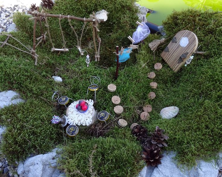 Nytt inlägg Fairy Garden, Miniatyrlandskap