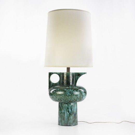 Anonymous, Italian Glazed Ceramic Table Lamp, c1970.