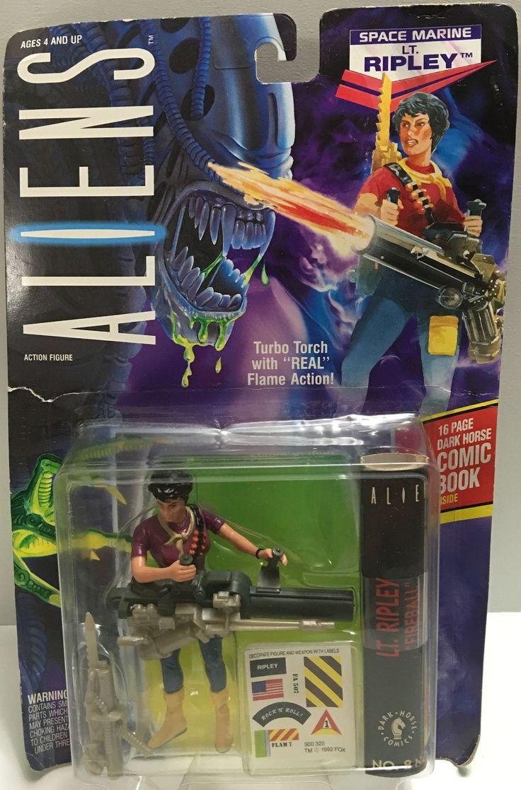 (TAS032394) - 1992 Kenner Aliens Action Figure - Space Marine Lt. Ripley