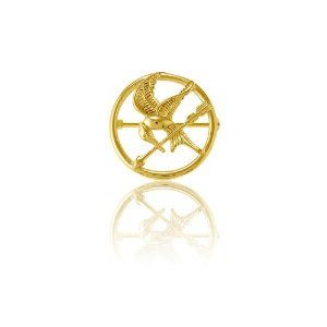 #10: Sterling Silver The Hunger Games-inspired Gold-Plated Mockingjay Pin.