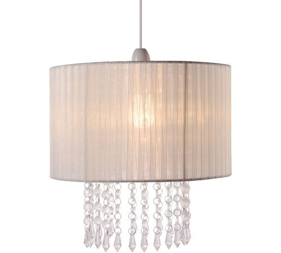 Buy Collection Grazia Voile Droplets Shade - Cream at Argos.co.uk - Your Online Shop for Lamp shades, Lighting, Home and garden.