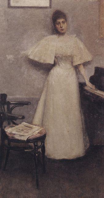 Janis Rozentals - Portrait of Malvīne Vīgnere-Grīnberga. Eventide, 1898
