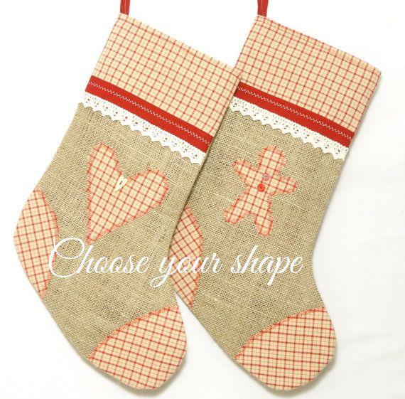 Personalised custom Christmas stocking Christmas by ChlorisBoris