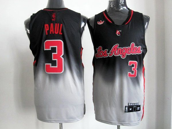 Adidas NBA Los Angeles Clippers 3 Chris Paul Fadeaway Fashion Swingman  Jersey